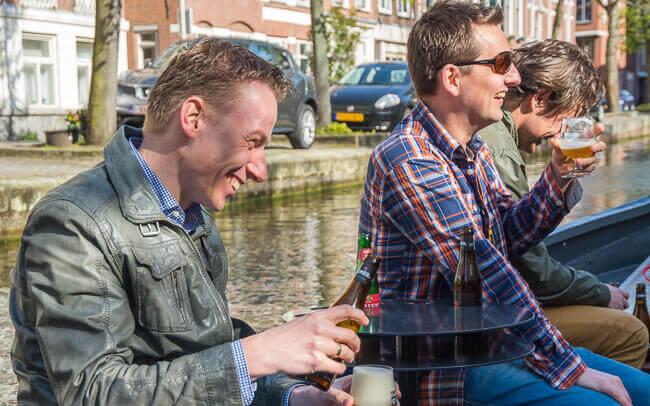 Bier Boot Den Haag mannenuitje