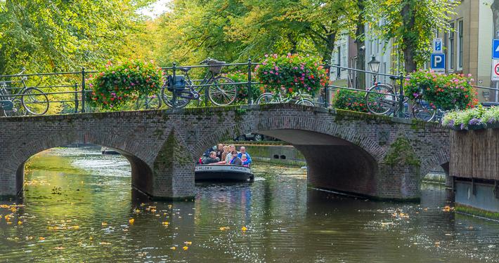 Historische grachten in Den Haag Scheveningen